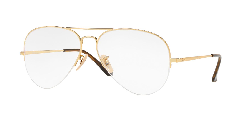 27b16ad52 Único e leve, o Aviator original inspira um novo formato de óculos de vista  contemporâneo. Apesar do seu formato em metal super fino, de meio aro, ...