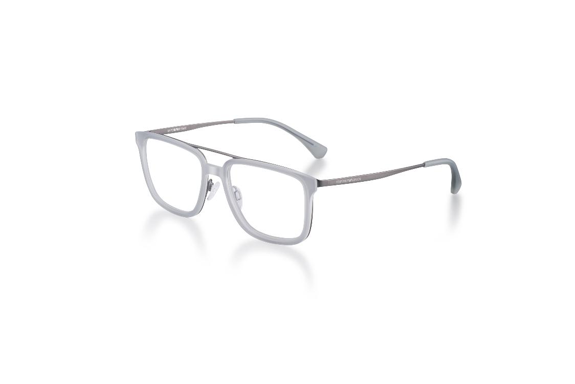 EA 1073 – Óculos com armação de ponta com estrutura metálica e frente fibra  de nylon injetada. A sombra opalina da fibra de nylon agradavelmente  contrasta ... 5cdca5b1c8