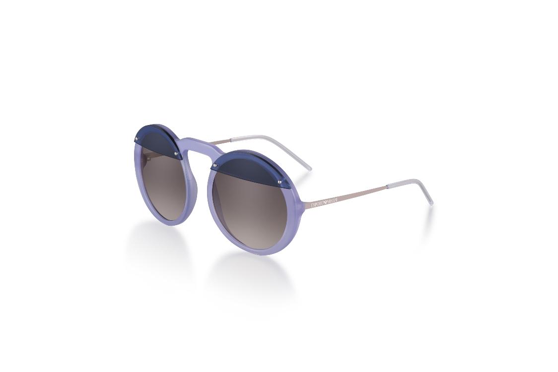 EA 4121 (modelo desfile) – Protagonistas do desfile primavera verão de  2018, estes óculos têm um formato redondo amplo, de grande impacto e com um  toque ... 76558af8b4