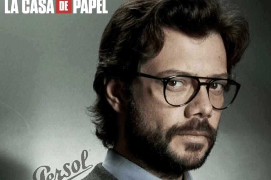 """Quer ter uns óculos iguais aos do Professor de """"La Casa de Papel""""? Encontre-os na nossa ótica!"""